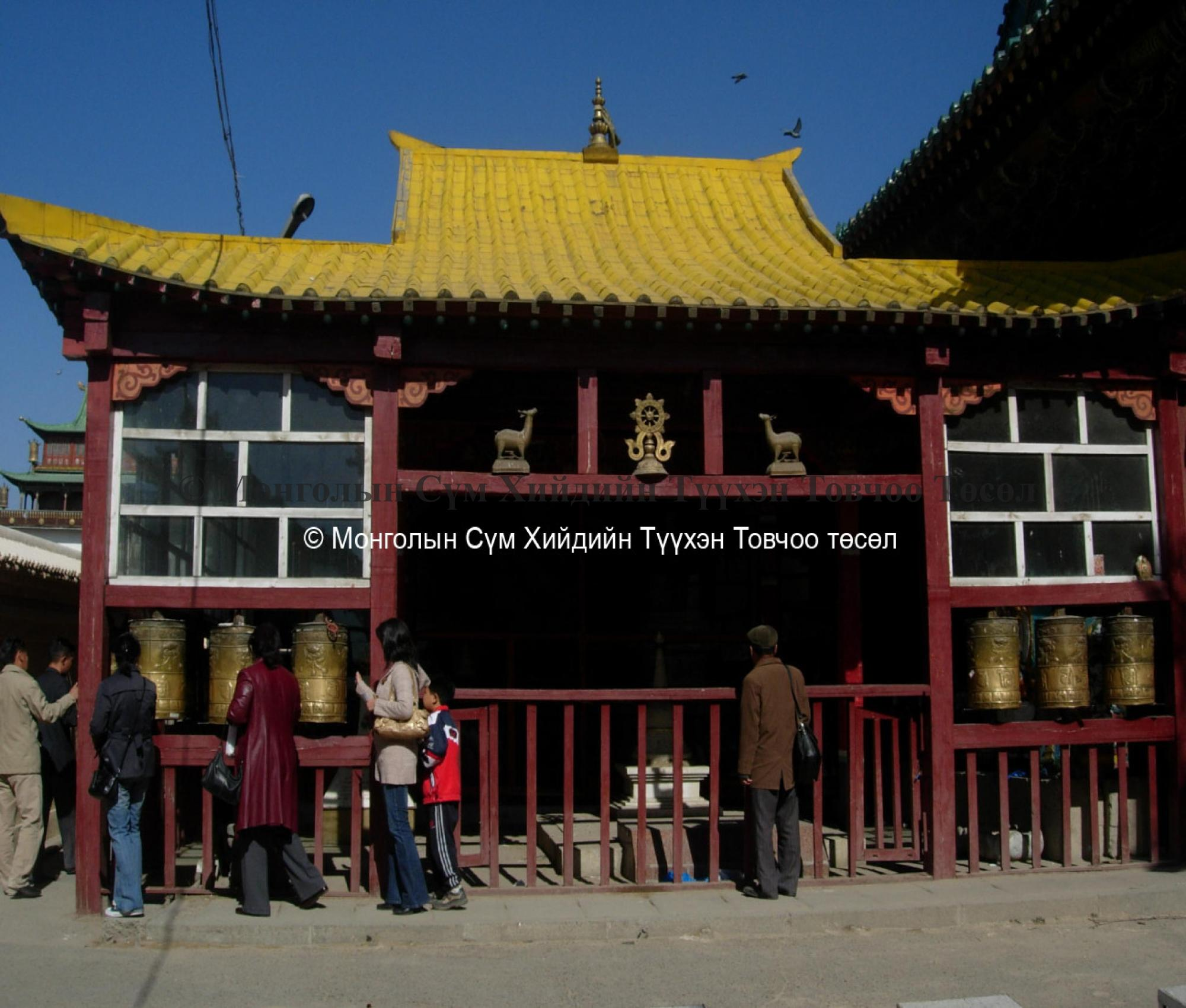 Tsongkhapa shrine in Old Courtyard
