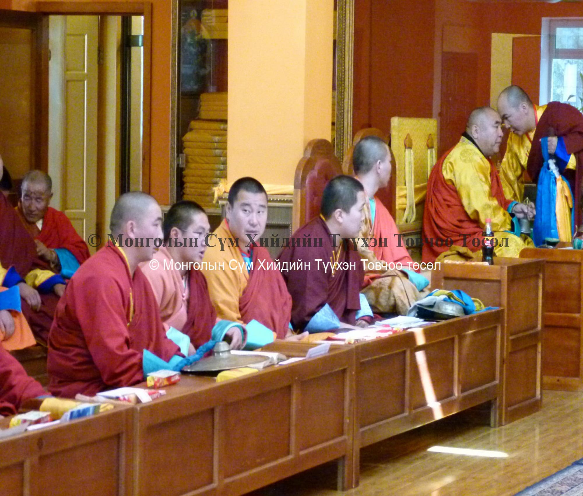 Monks at a ceremony
