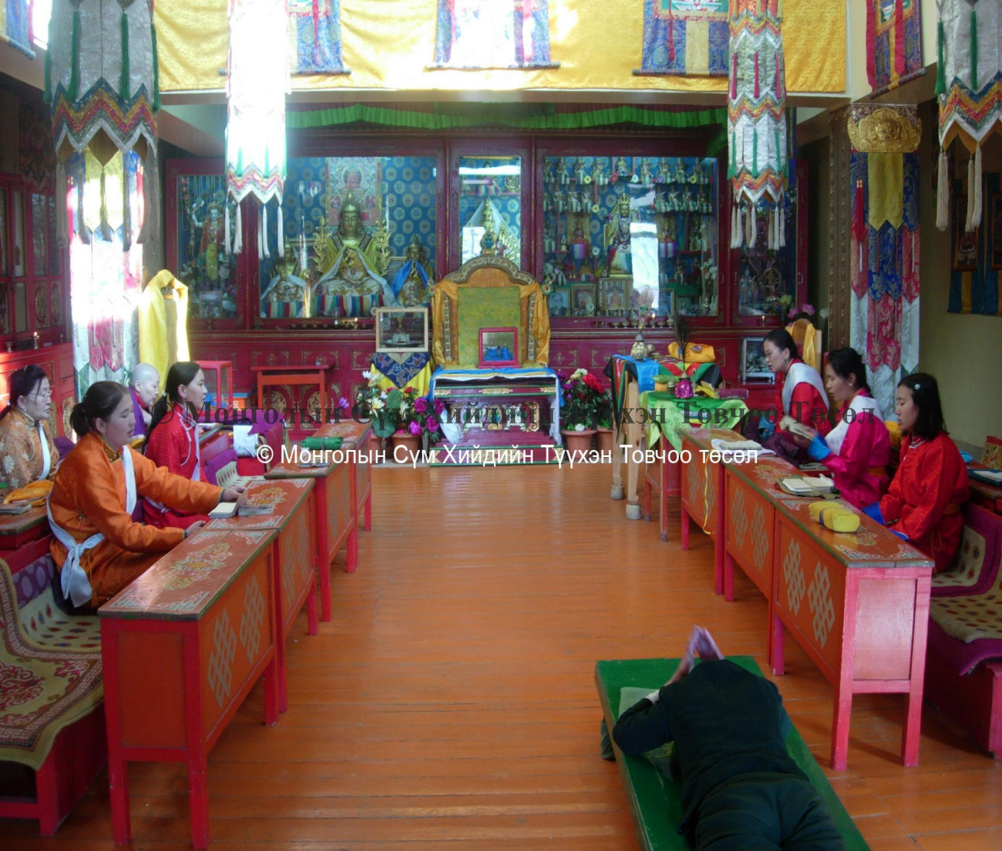 Inside the temple prayer room