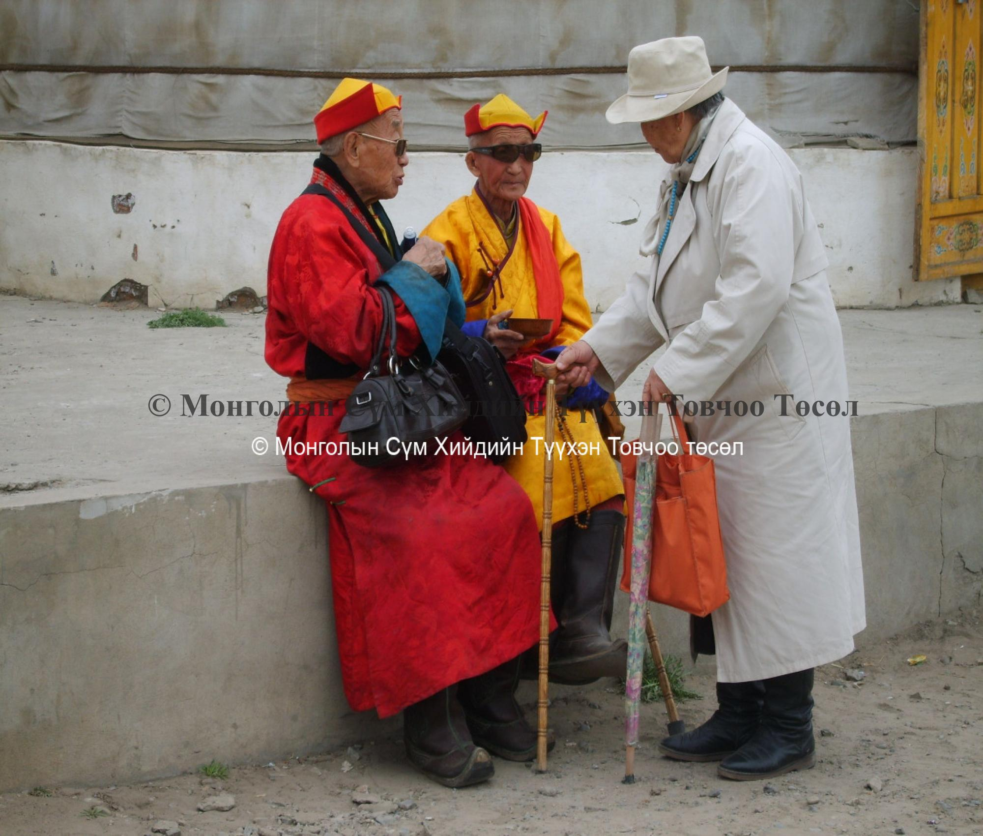 Old monks of Züün khüree: Dashtseren monk and Luvs