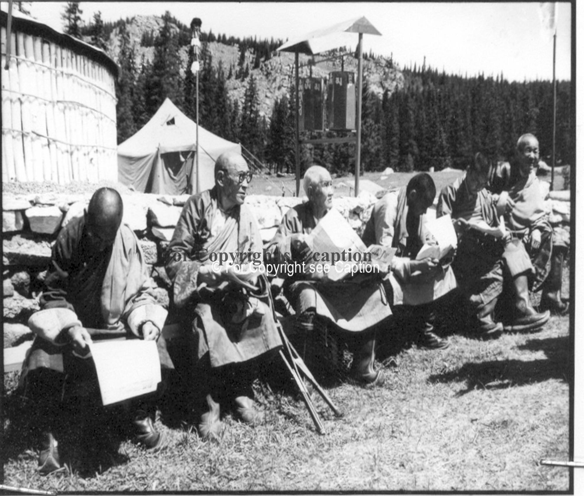 Reopening of a yurt temple in 1990. Film Archives K-44686