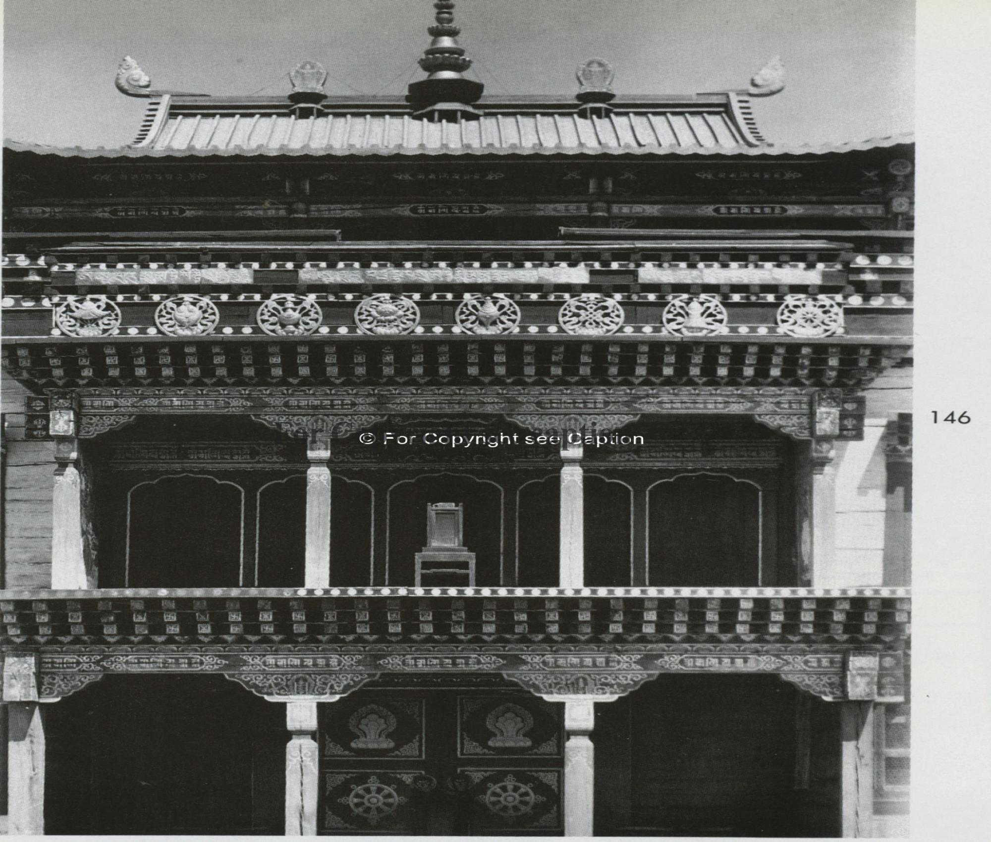 The facade of the temple. Tsültem, N., Mongolian Architecture. Ulaanbaatar 1988, 146
