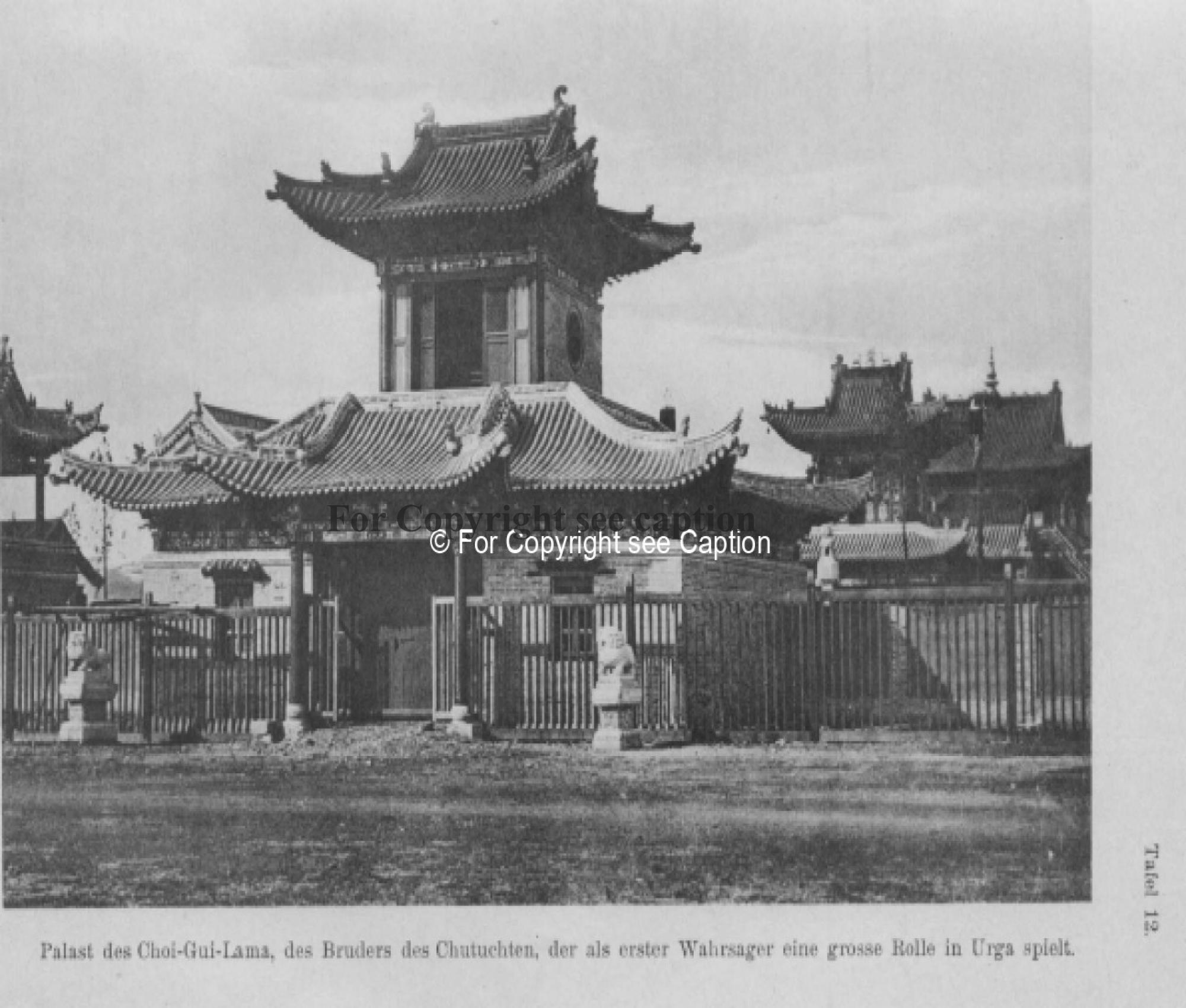 Entrance of the Temple Complex. Consten, H., Weiderplätze der Mongolen. Vol. II. 1920.