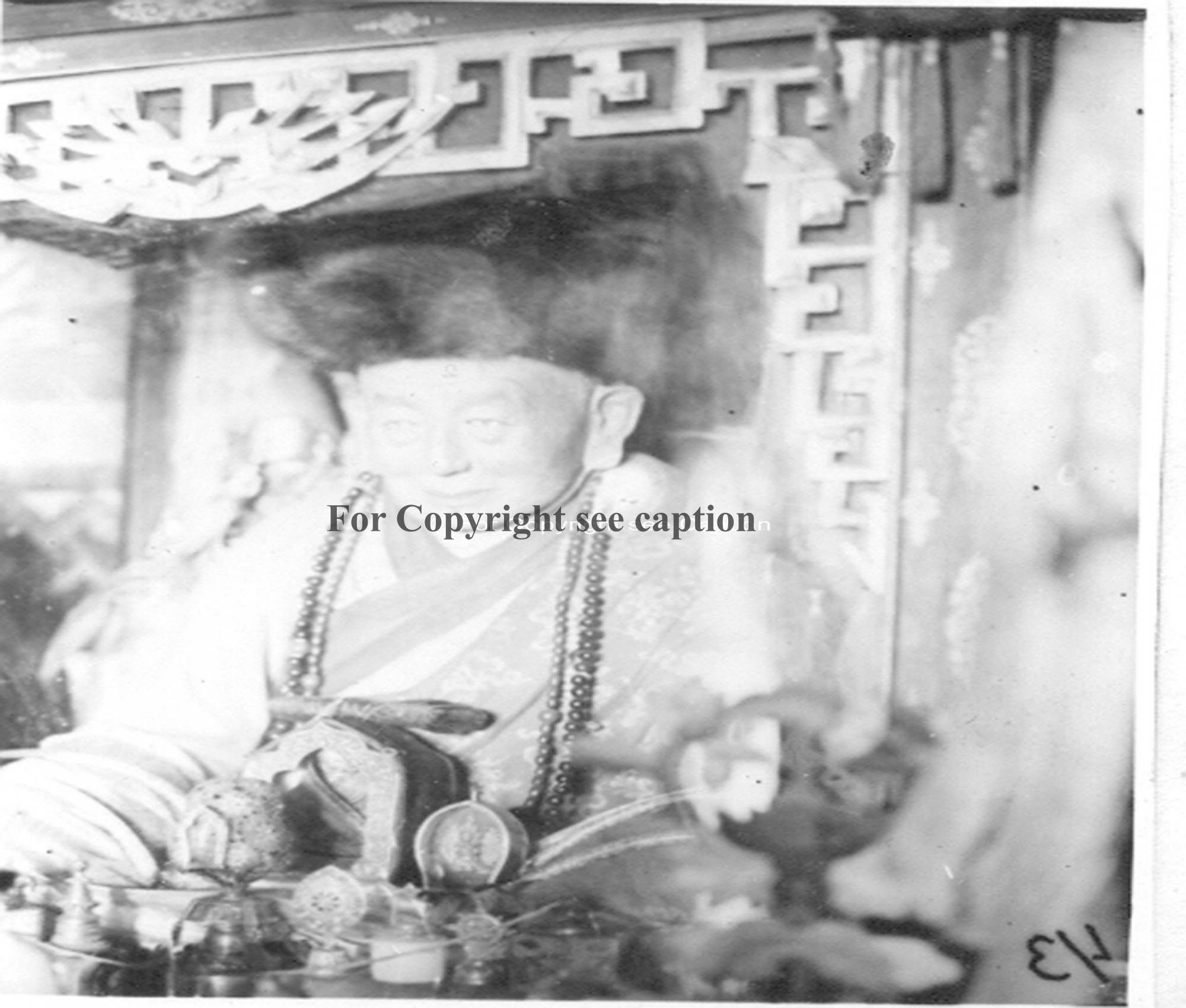 Mummy of Yonzon khamba made in 1910 (?). Film Archives K-23964