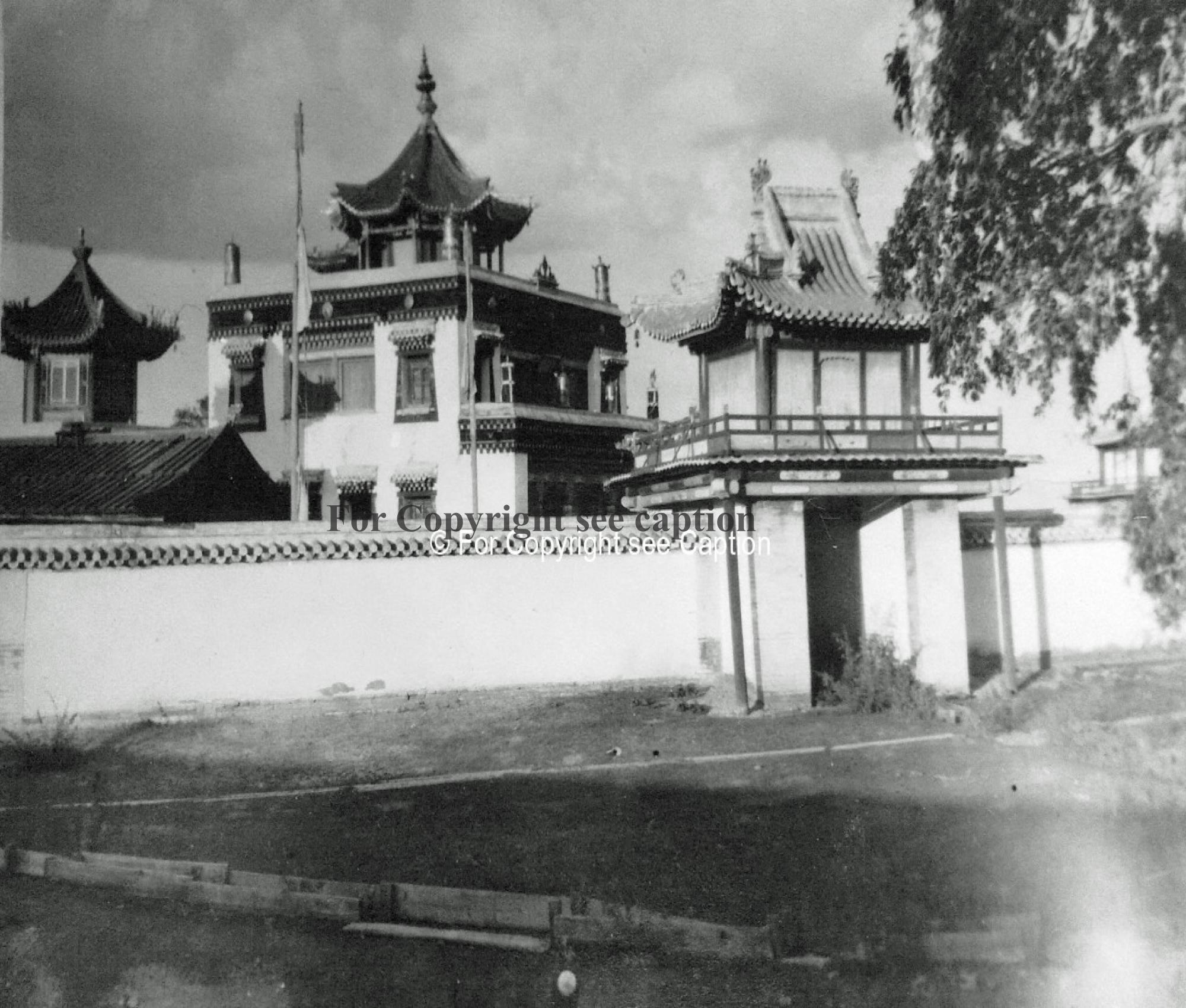 General view. 1930. Photo exhibition held in Bonn by German-Mongolia Society in 2005. Copy of the ex
