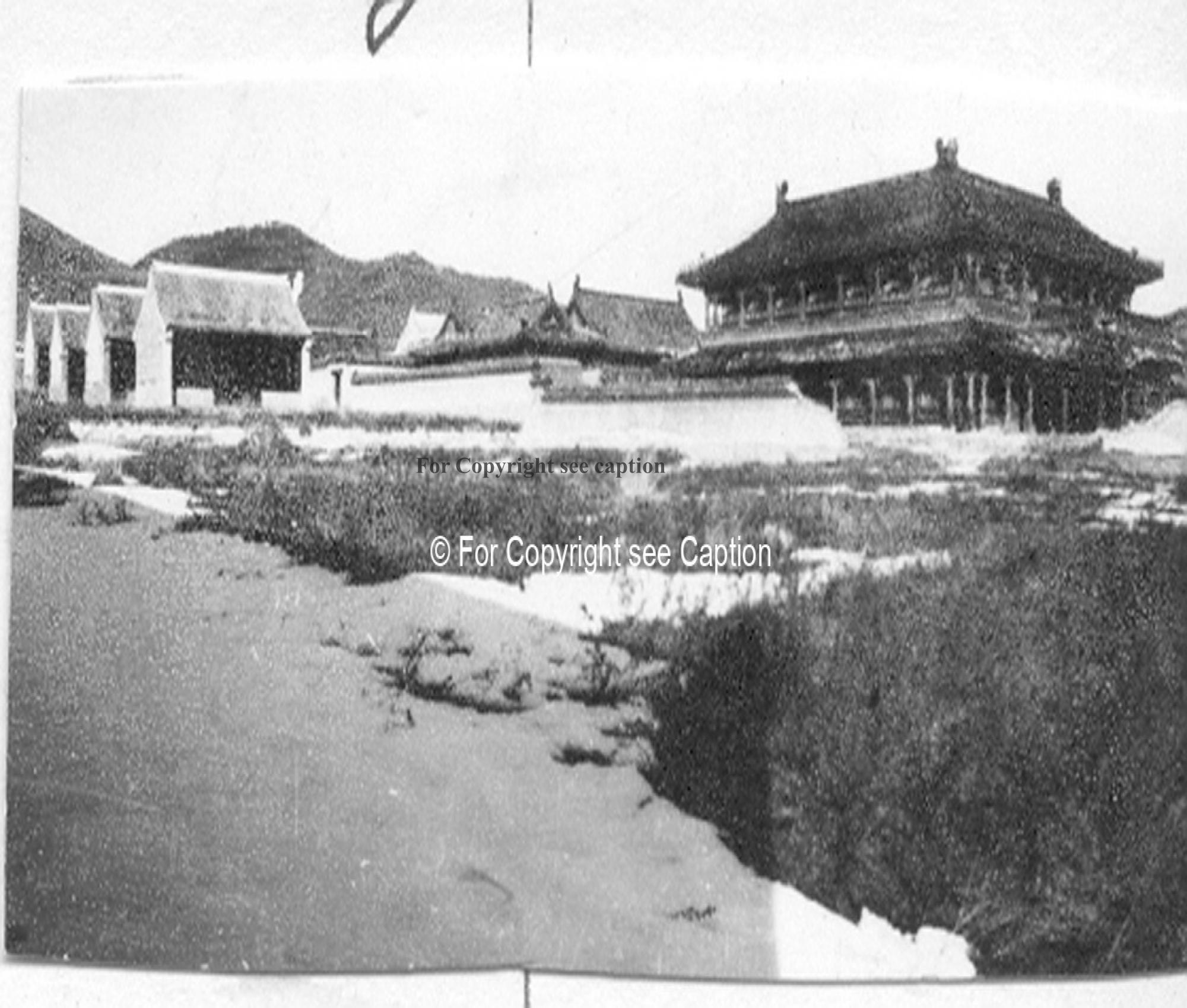 The main assembly hall and the Western part of the monastery. Film Archives K-23667