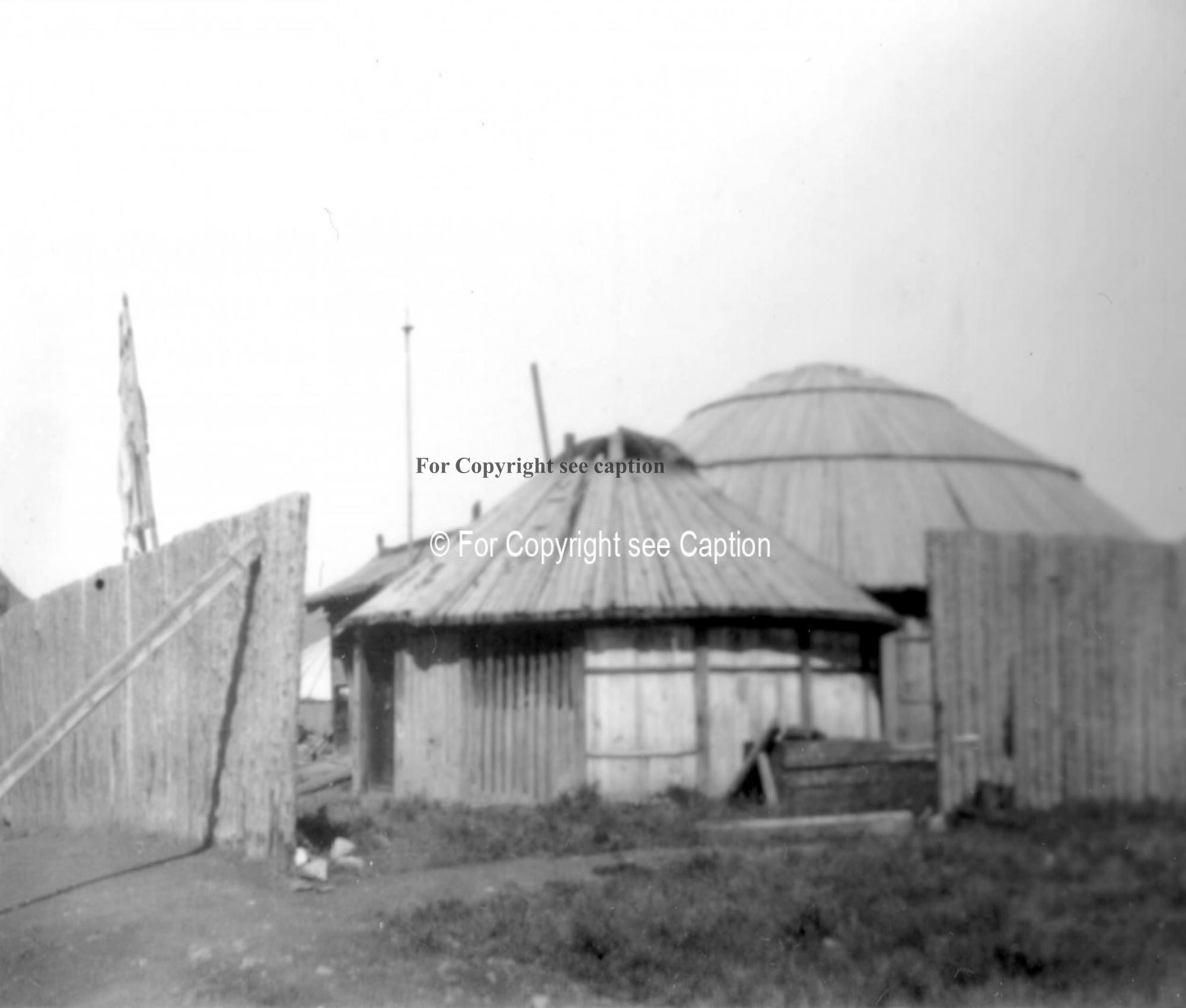 A yurt-shaped temple. Film Archives ?