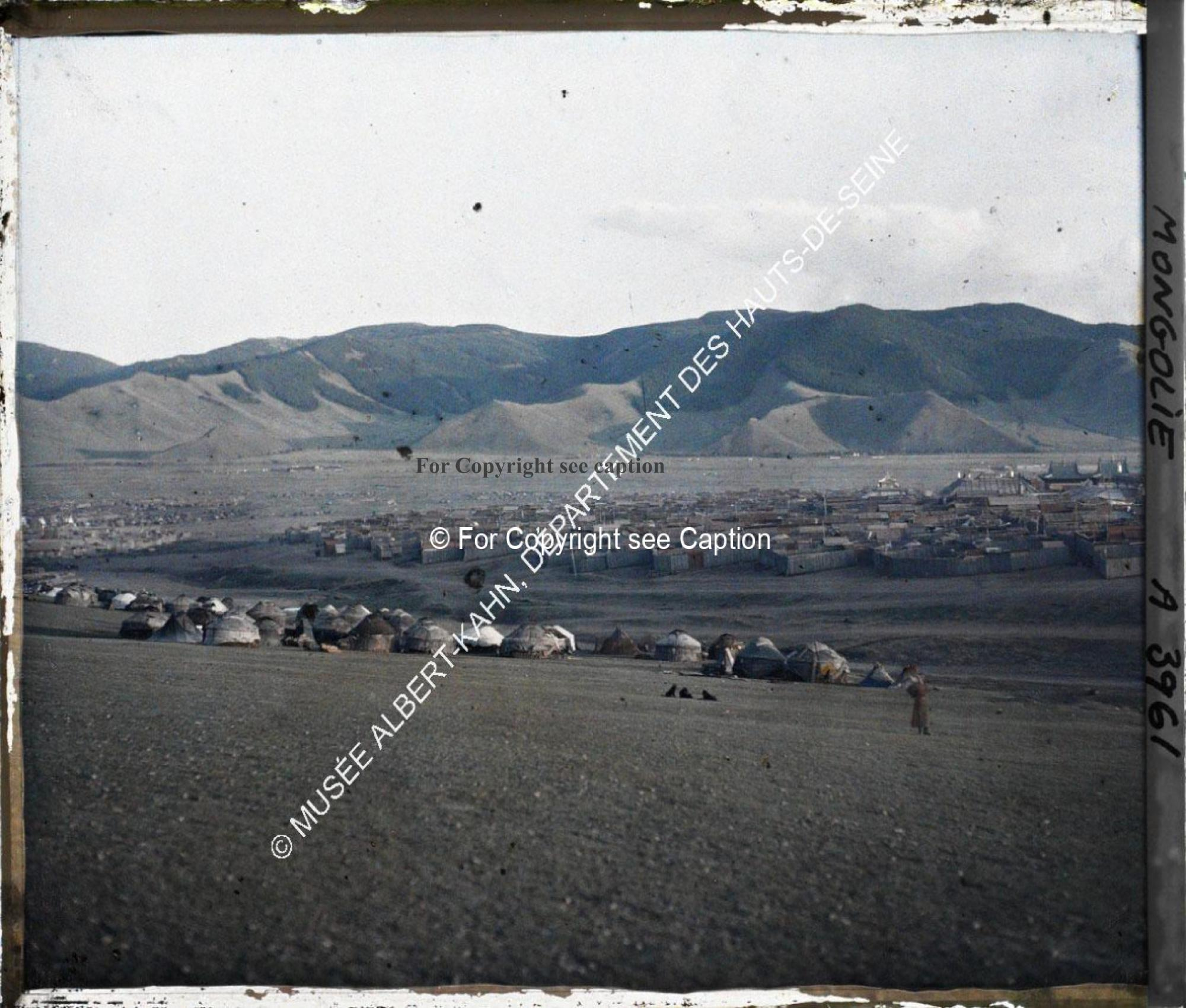 Eastern part of Gandan from the North-East. Eastern part of a panorama photo. Musée Albert-Kahn. A39
