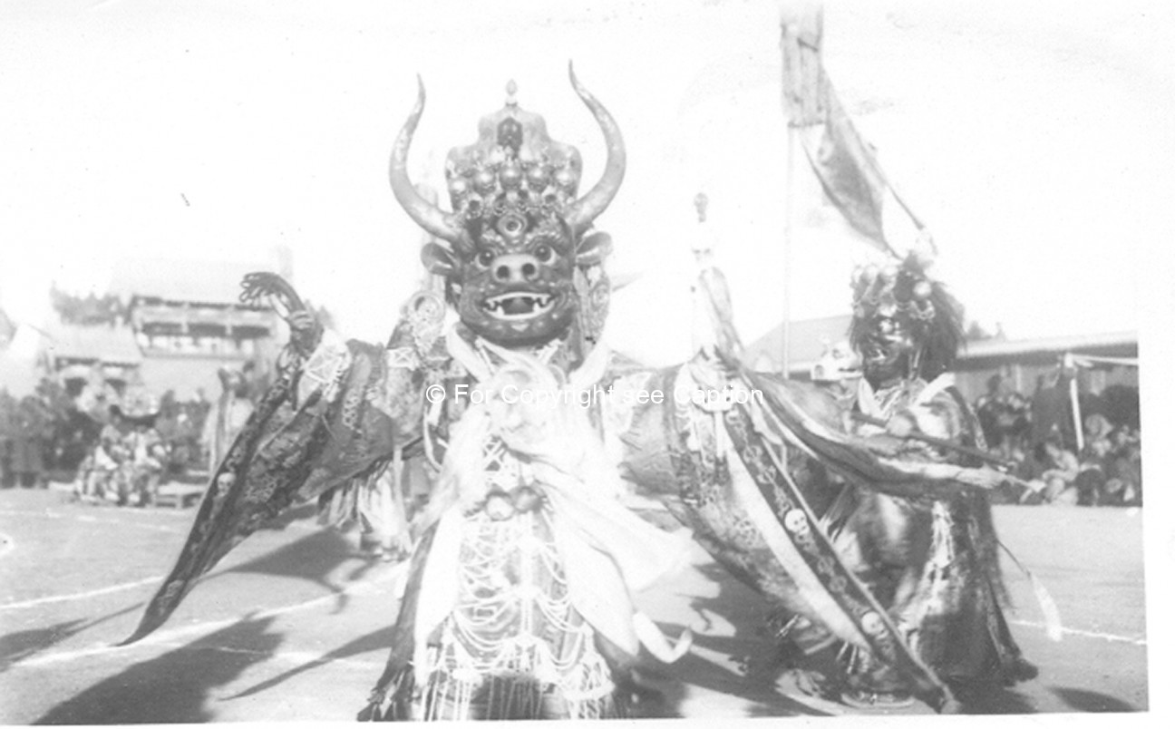 Tsam dance. Choijoo, the Lord of Death. Film Archives K-24829