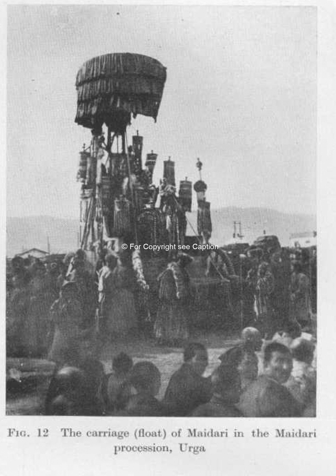Maitreya procession. Consten, H., Lamaism in Mongolia.