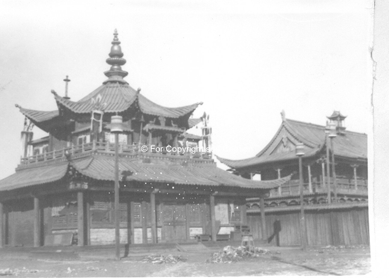 Dorj povran and Ochirdar temple within the Yellow Palace. Film Archives K-24030